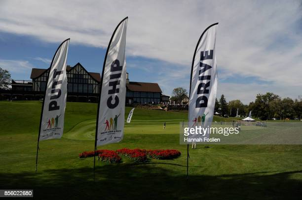 The chipping contest and the putting contest are seen at the regional round of the Drive Chip and Putt Championship on September 30 2017 at...