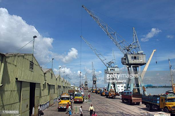 The Chittagong sea port. Situated on the right bank of the Karnafuli river, about 9 nautical miles from the shoreline of the Bay of Bengal, it is one...