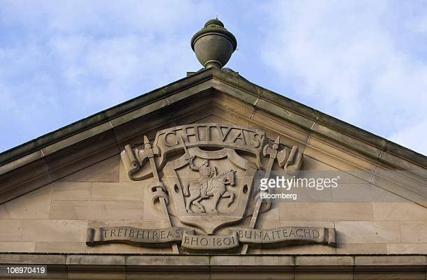 The Chivas family coat of arms is seen outside the Pernod Ricard SA bottling plant in Paisley UK on Friday Nov 19 2010 Pernod Ricard SA the world's...