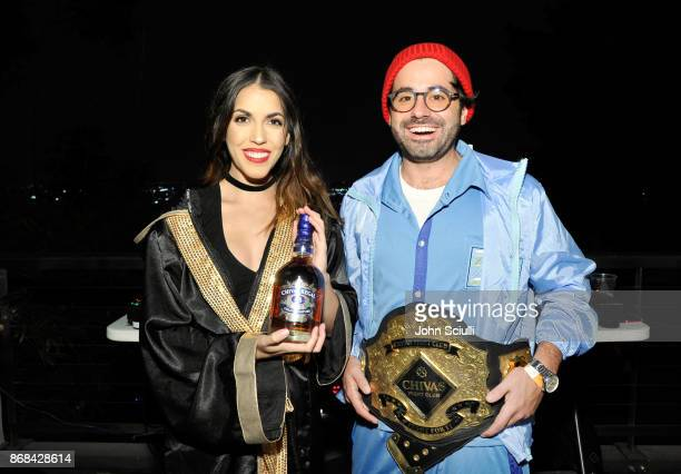 The Chivas Fight Club and DJ Viceroy attend Diego Boneta's David Bernon's Halloween at the Hedges by Chivas Regal on October 30 2017 in West...