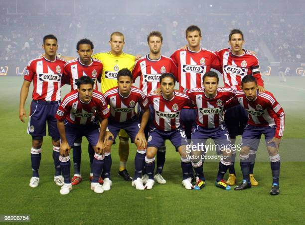 The Chivas USA starting XI pose for a team group photograph prior to their MLS match against the Los Angeles Galaxy at the Home Depot Center on April...