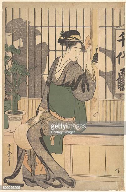 The Chiyozuru Teahouse 1790s Private Collection Artist Utamaro Kitagawa