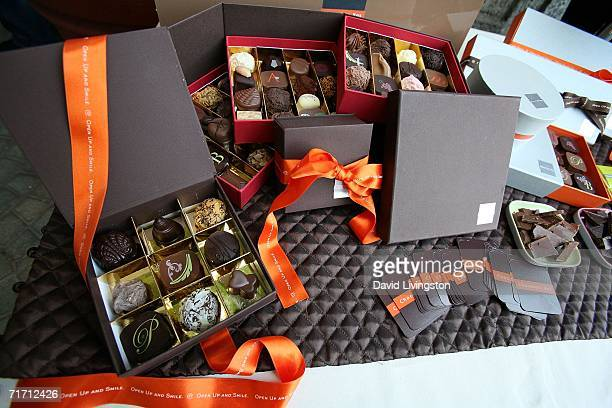 The Chocolate Box Display is shown at the The Ultimate 'Green' Room Eco Lounge Emmy Gift Suite at the W Hotel on August 24 2006 in Westwood California