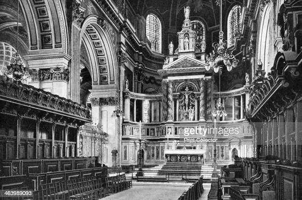 The Choir and Reredos St Paul's Cathedral London 19081909 From Penrose's Pictorial Annual 19081909 An Illustrated Review of the Graphic Arts volume...