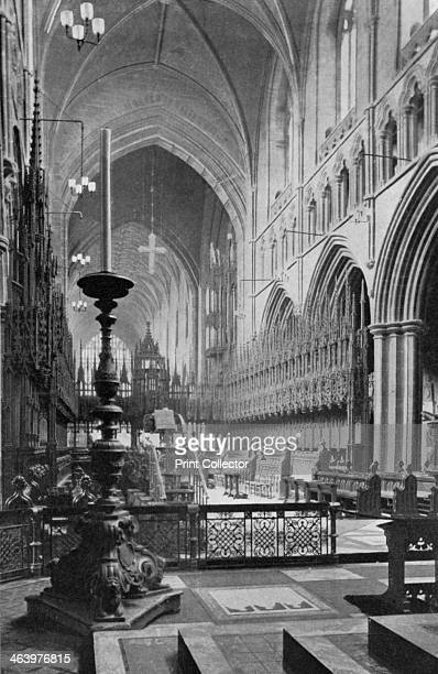 The choir Chester Cathedral Cheshire 19241926 The choir of Chester Cathedral was built between 1283 and 1315 and was designed by Richard Lenginour A...