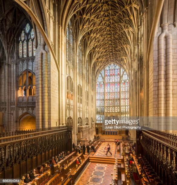 The choir inside Gloucester cathedral.