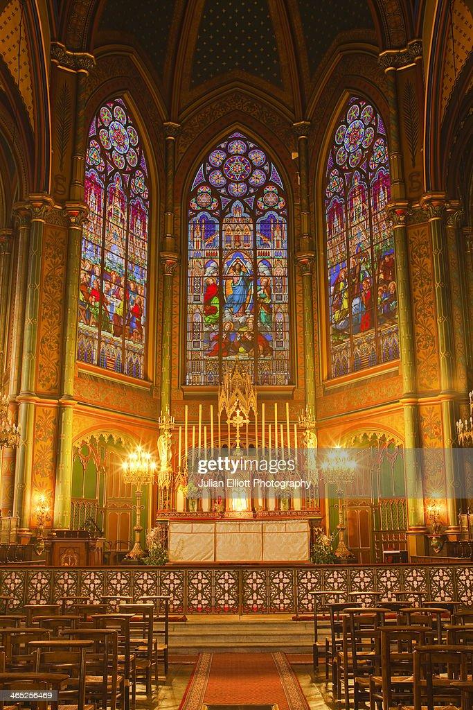 The choir of Eglise Saint Eugene et Sainte Cecile : ストックフォト