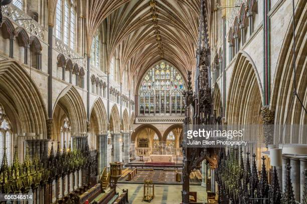 The choir of Exeter cathedral, UK.