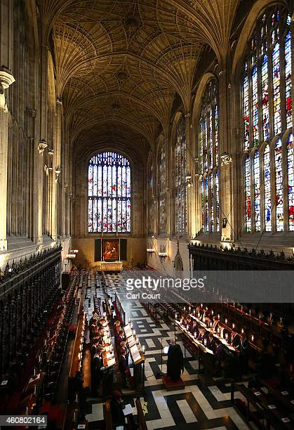 The Choir Of Kings College Cambridge Conduct A Rehearsal Their Christmas Eve Service