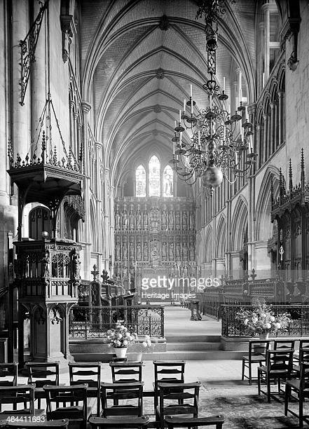The choir of Southwark Cathedral London looking east towards the high altar The choir dates from the rebuilding of the cathedral in the 13th century...