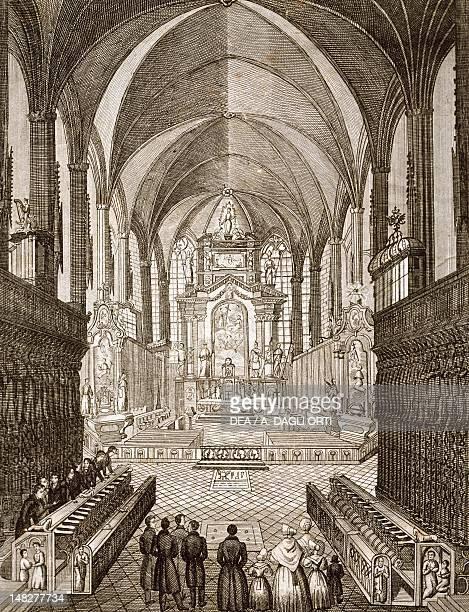 The choir of St Stephen's Cathedral in Vienna print Austria 19th century Vienna Historisches Museum Der Stadt Wien