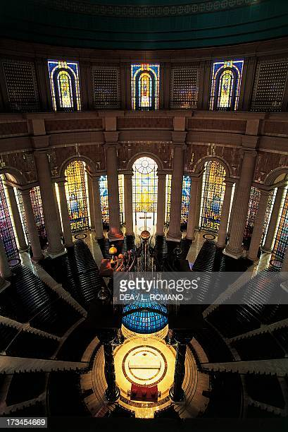 The choir of the Basilica of Our Lady of Peace Yamoussoukro Lagunes region Ivory Coast