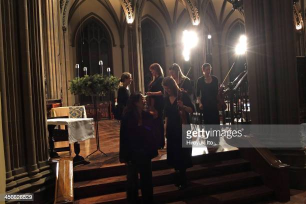 """The Choir of Trinity Wall Street with the Trinity Baroque Orchestra performing Handel's """"Messiah"""" at Trinity Church on Saturday night, December 7,..."""