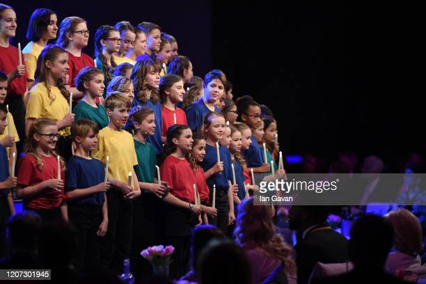 The choir perform during the 2020 Laureus World Sports Awards at Verti Music Hall on February 17 2020 in Berlin Germany
