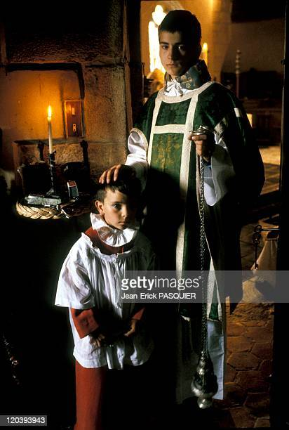 The Choirboys In France In 1987 Images seem to emerge from the fifteenth century but still contemporary country parishesa Country Priest Father...