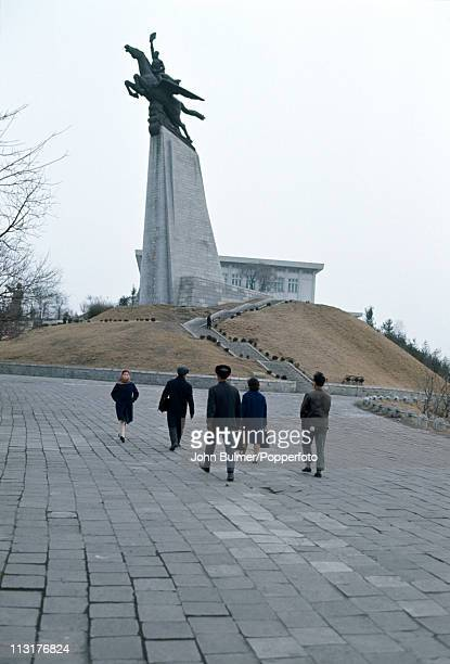 The Chollima Statue in Pyongyang North Korea February 1973 The statue represents Chollima a winged horse from Korean myth