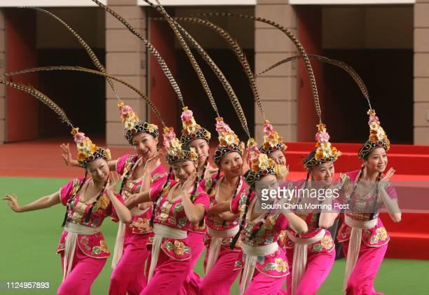 The Chongqing Hongyan Dancing Troupe peform 'Qiao Huadan' to celebrate National Day at Sha Tin Racecourse 01 October 2006