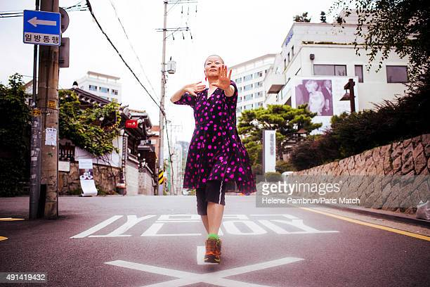 The choreographer Euh Me Ahn is photographed for Paris Match on August 24 2015 in Seoul South Korea