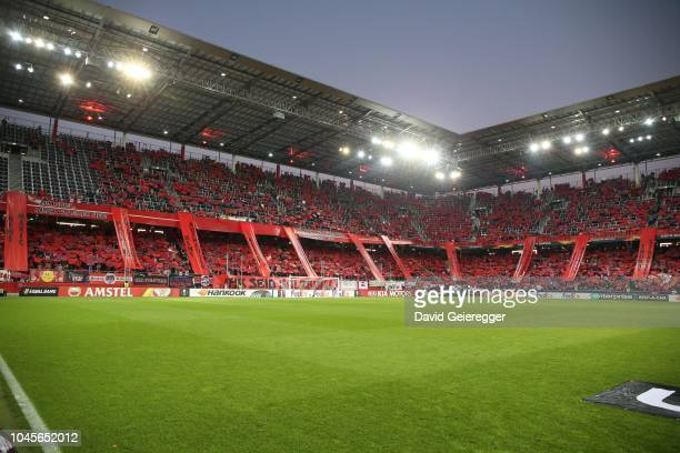 The choreography of Fc Salzburg fans during the UEFA Europa League Group B match between FC Salzburg and Celtic Glasgow at Red Bull Arena on October...