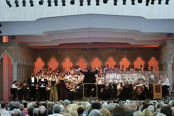 The Chorus and Orchestra of the Dennis Keene Choral Festival with conductor and director Dennis Keene Soprano Adina Aaron Soprano Marguerite Krull...