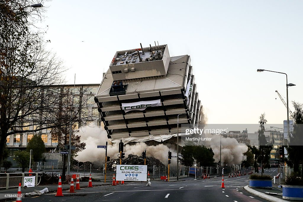 Christchurch Central News: Christchurch Police Station Demolished By Implosion After