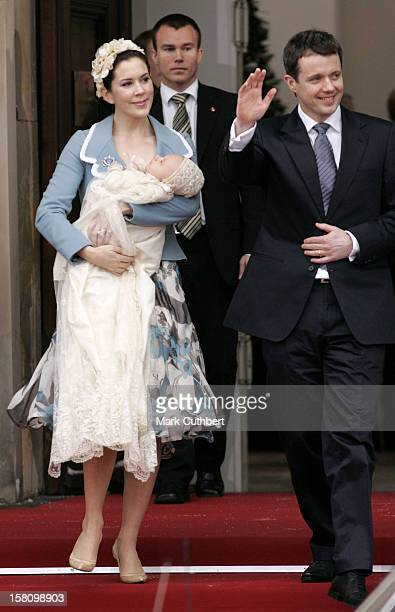 The Christening Of Crown Prince Frederik Crown Princess Mary Of Denmark'S Son Christian Valdemar Henri John At The Palace Chapel Christiansborg...