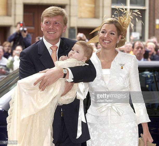 The Christening Of Crown Prince WillemAlexander Crown Princess Maxima Of Holland'S Daughter CatharinaAmalia At The St Jacobskerk Church In The Hague