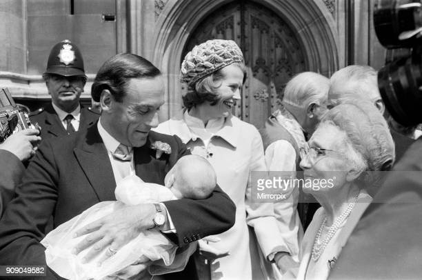 The Christening of Mr and Mrs Jeremy Thorpe's son Rupert Jeremy in the Crypt Chapel of the Palace of Westminster Pictured are the Thorpe parents and...
