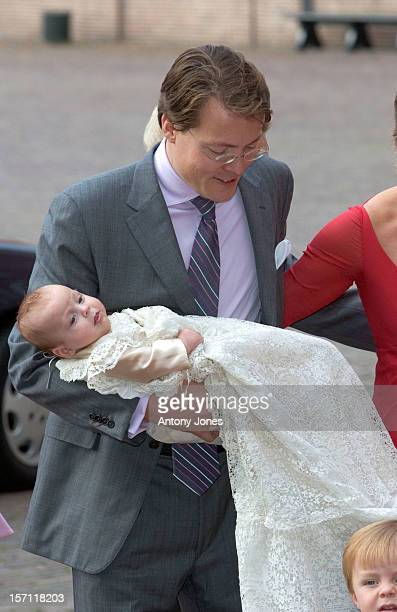 The Christening Of Prince Constantijn Princess Laurentien Of The Netherlands Daughter Leonore At The Palais Het Loo National Museum In Apeldoorn