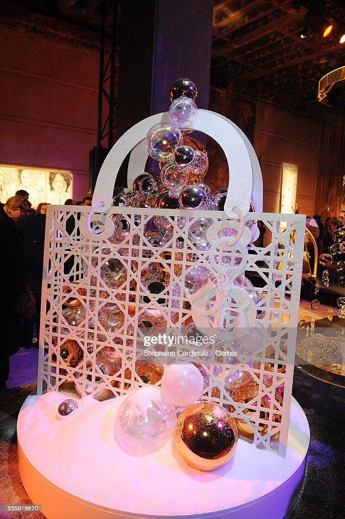 The Christian Dior Christmas three is pictured during 'Les Sapins de Noel des Createurs' in Paris.