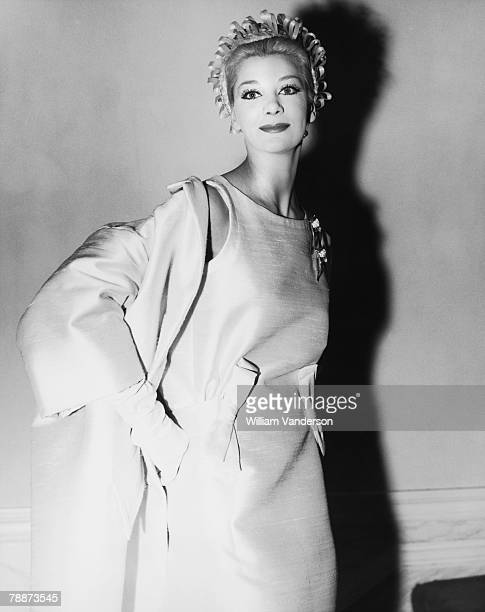 The Christian Dior summer 1961 readytowear fashions are premiered at Dior's new premises on Conduit Street 2nd March 1961 Jeanette McConnell wears...