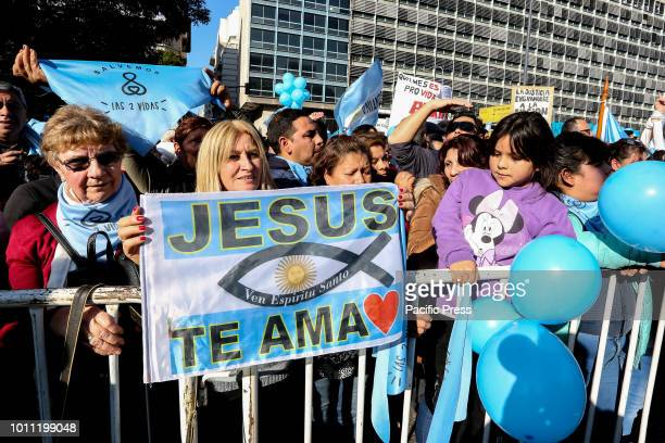 The Christian Evangelical Churches marched against the legalization of abortion in downtown Buenos Aires