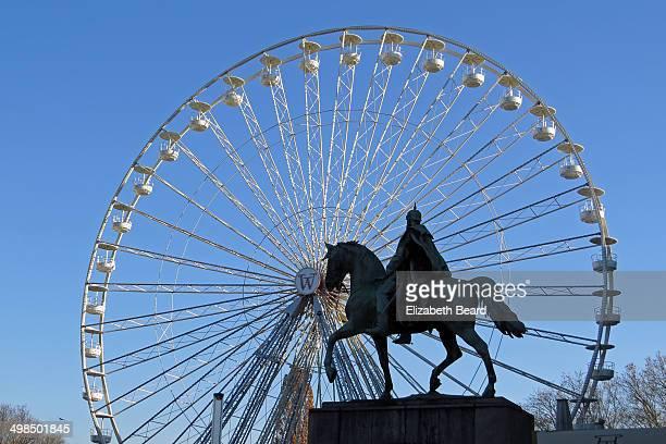 The Christmas market ferris wheel in Essen, Germany