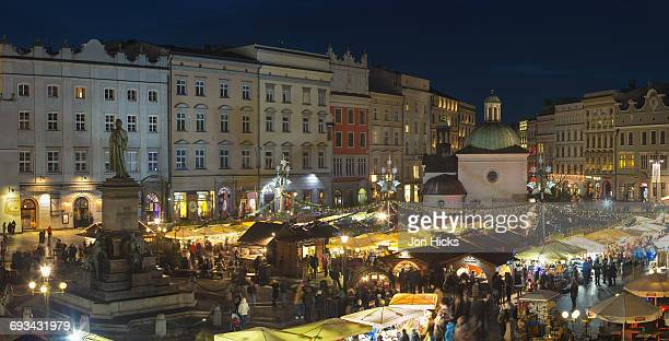 The Christmas market in Rynek G?ówny.
