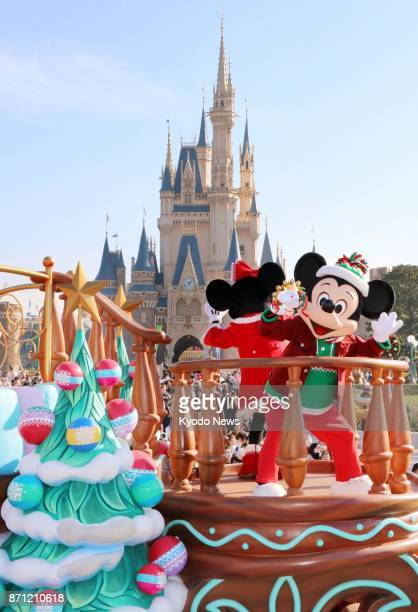 The Christmas parade begins as part of the special event called 'Christmas Fantasy' at Tokyo Disneyland on Nov 7 2017 The event will run through Dec...