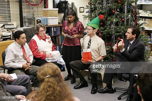 THE OFFICE The Christmas Party Episode 10 Aired Pictured Oscar Nunez as Oscar Martinez Phyllis Smith as Phyllis Lapin Mindy Kaling as Kelly Kapoor...