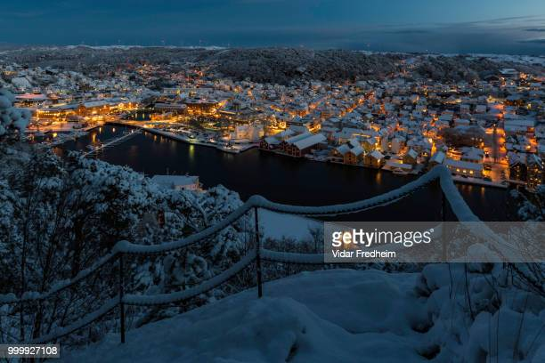 the christmas town - egersund - in it's winter suit! - egersund stock photos and pictures