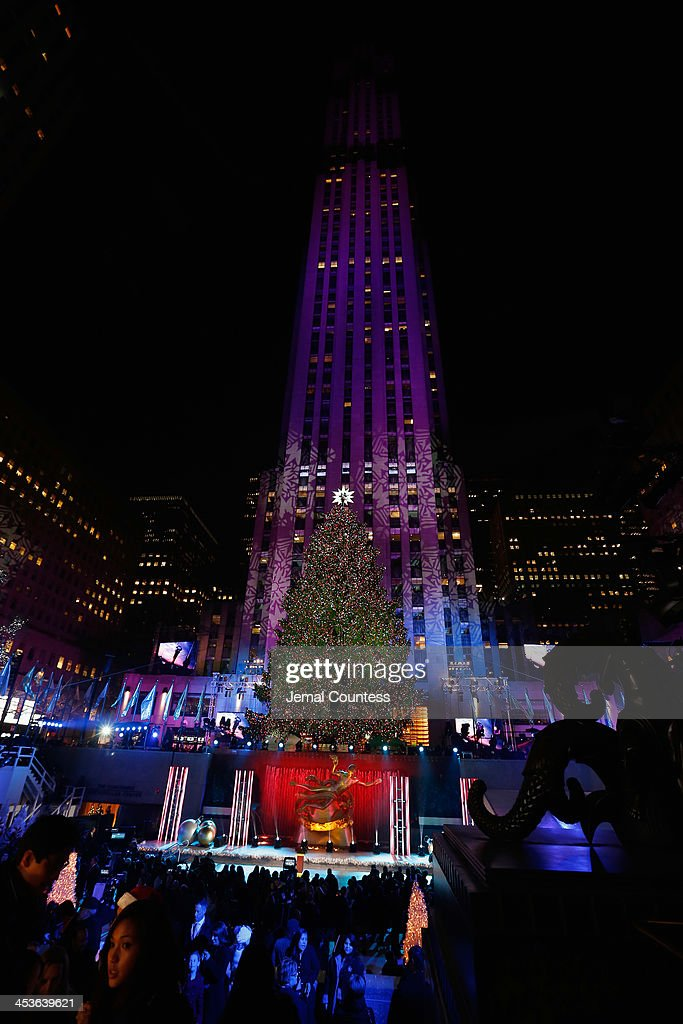 The Christmas Tree is lit during 81st Annual Rockefeller Center Christmas Tree Lighting Ceremony at Rockefeller Center on December 4, 2013 in New York City.