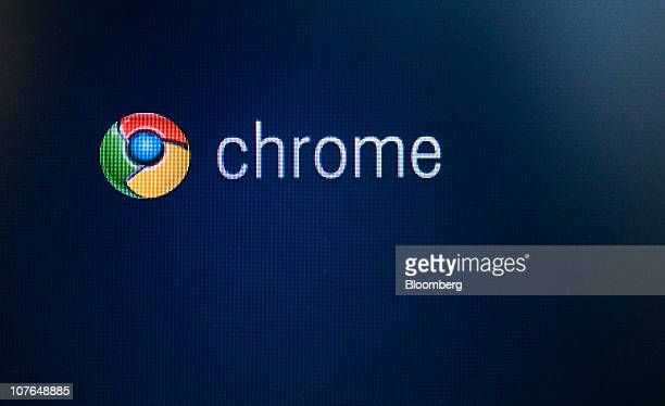 The Chrome Operating System logo is displayed on the Cr48 laptop the first computer to run Google Inc's Webbased Chrome in New York US on Friday Dec...