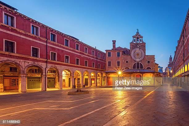 The chruch of San Giacomo di Rialto in the sestiere of San Polo, Venice, Italy