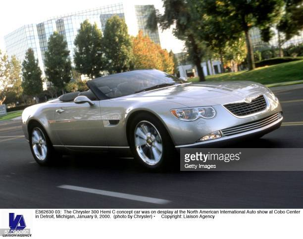 The Chrysler 300 Hemi C Concept Car Was On Desplay At The North American International Auto Show At Cobo Center In Detroit Michigan January 9 2000