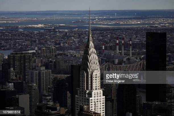 The Chrysler Building stands in Midtown Manhattan, January 9, 2019 in New York City. New York Citys iconic Chrysler Building has been put up for...