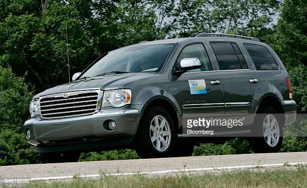 The Chrysler Group's prototype Chrysler Aspen HEMI Hybrid is driven for a test drive at Chrysler's Chelsea Michigan Proving Grounds on Thursday June...