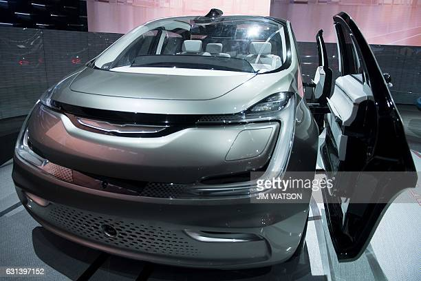 The Chrysler Portal Concept minivan is shown during the 2017 North American International Auto Show in Detroit Michigan January 10 2017 / AFP / JIM...