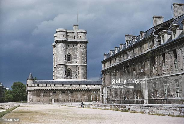 The Château de Vincennes, a medieval castle in Vincennes, France, circa 1965.