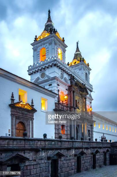 the church and monastery of st. francis, quito - キト ストックフォトと画像