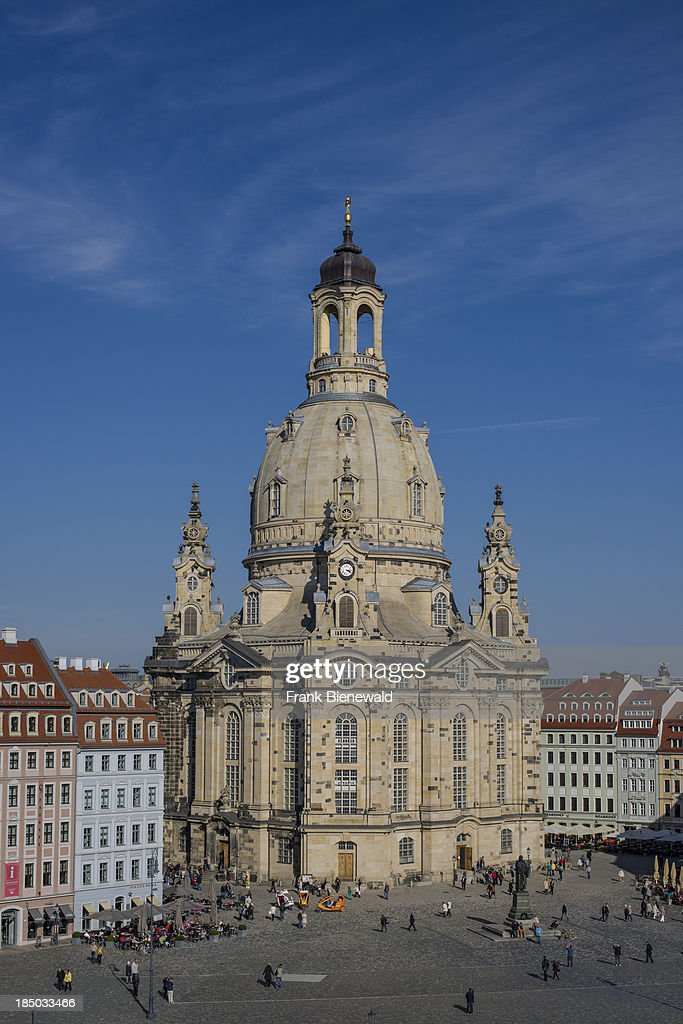 """The church """"Frauenkirche"""" is located at """"Neumarkt"""" in the... : News Photo"""