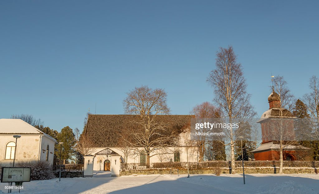 The Church in Nordmaling, Sweden : Stock Photo