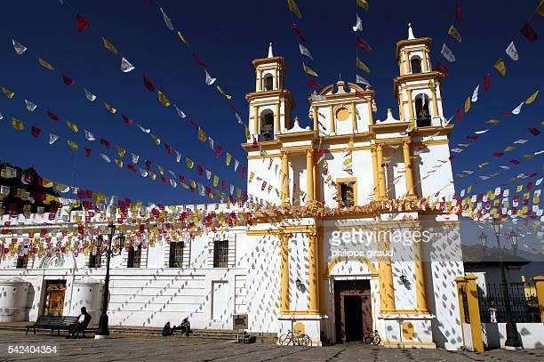 The church in San Christobal de las Casas