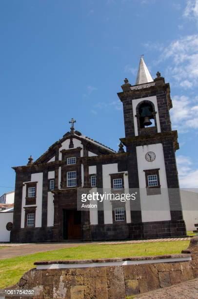 The church in Santa Cruz on Graciosa Island in the Azores Portugal